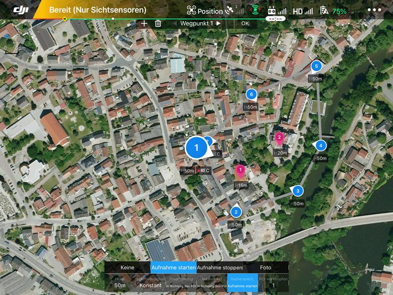 Drohnenflüge - programmiert Routen